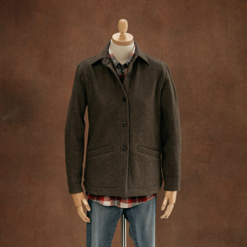 women's brown wool overshirt