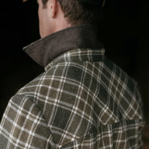 stag shirt contrast collar
