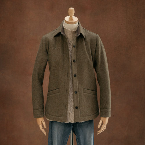 women's wool overshirt khaki green