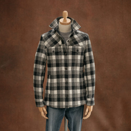 blue grey check women's overshirt