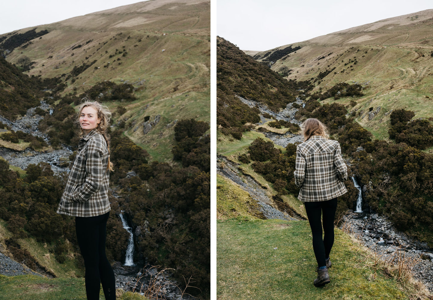 Athena Mellor in the dales Herne Clothing